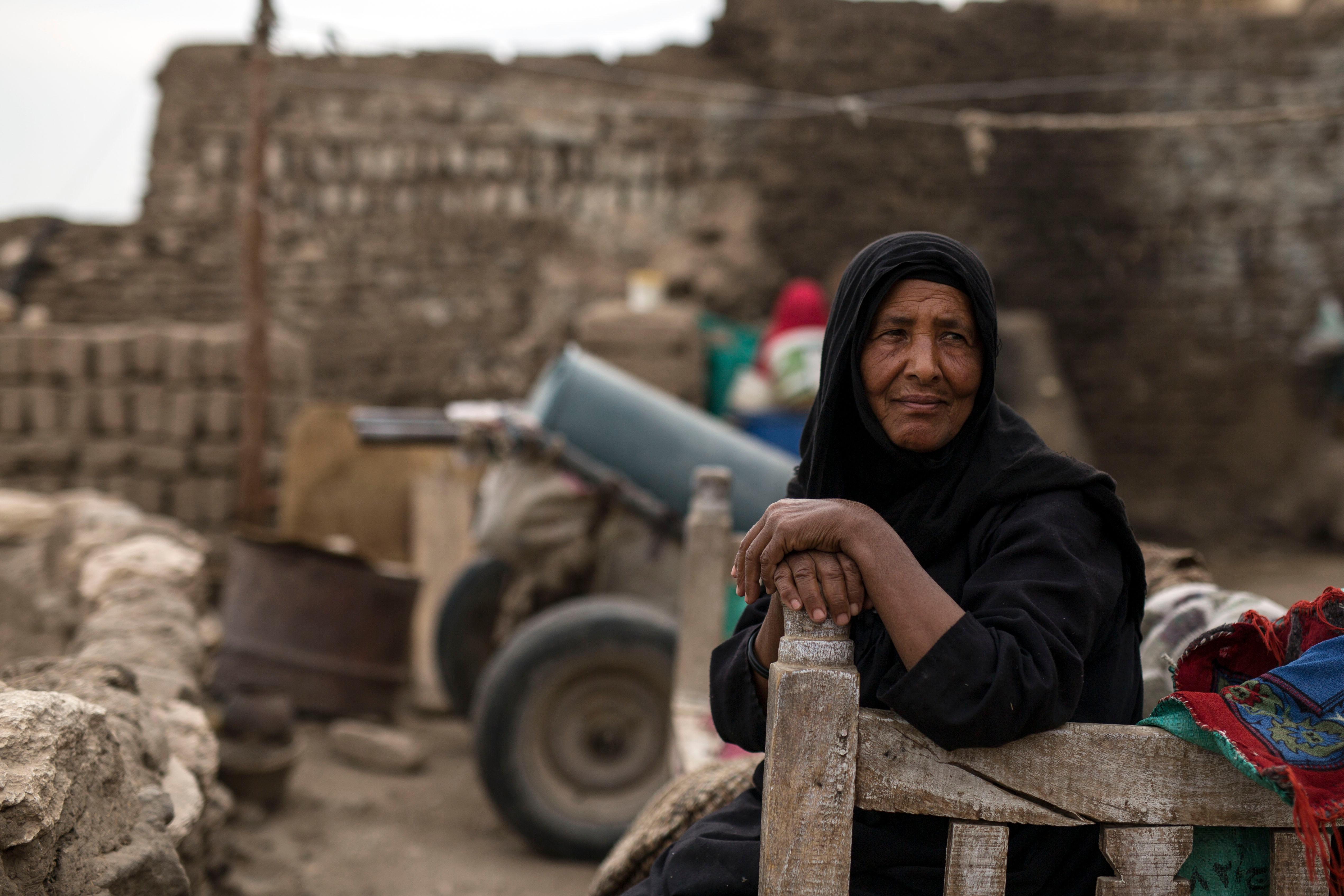 Om Ahmed one of the few remaining inhabitants of Qurna Maraai