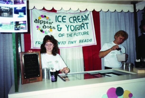Curt and his wife Kay at the Illinois State Fair in 1989.