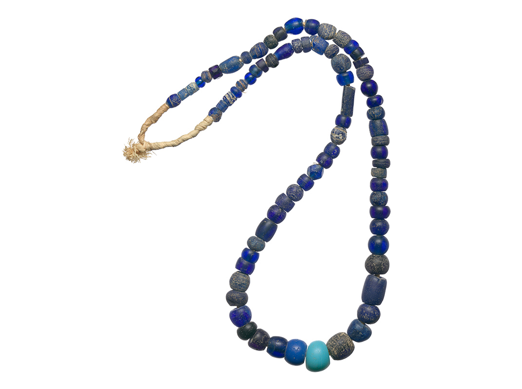 Cobalt blue glass trade beads