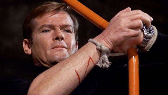 Roger Moore and the saw watch in Live and Let Die