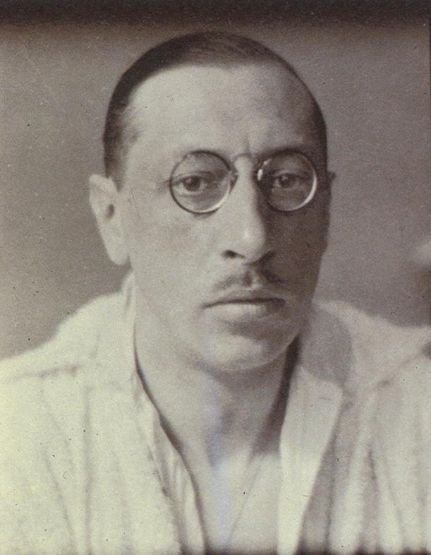 Igor Stravinsky by Alvin Langdon Coburn. Gelatin silver print, 1921