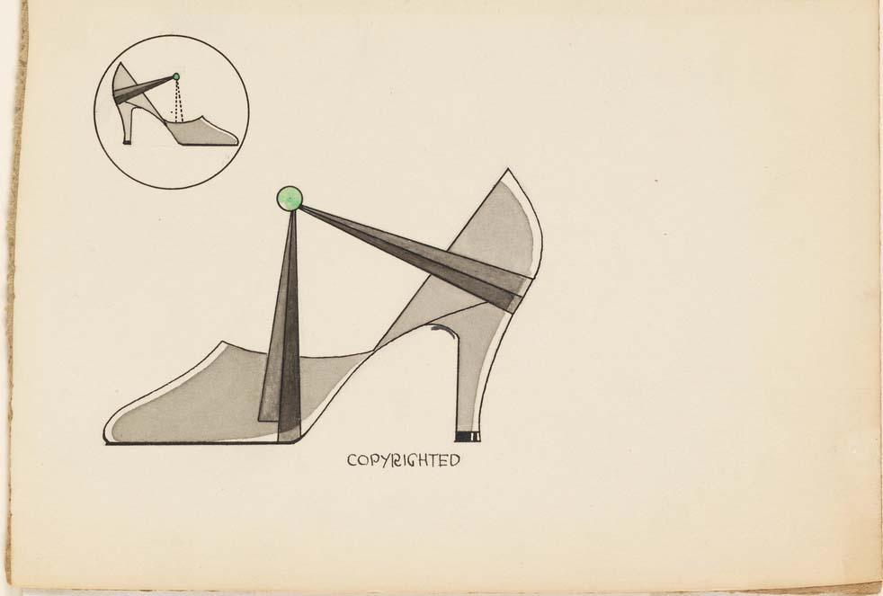 Design by Henry Dreyfuss for Delman Shoes, 1929