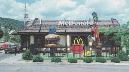 Mansard-roofed McDonald's in Corning, New York (1985)