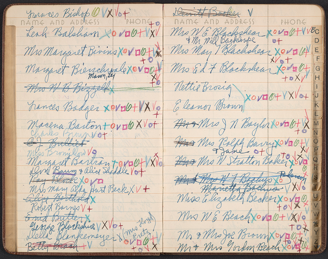 Kathleen Blackshear's Address Book