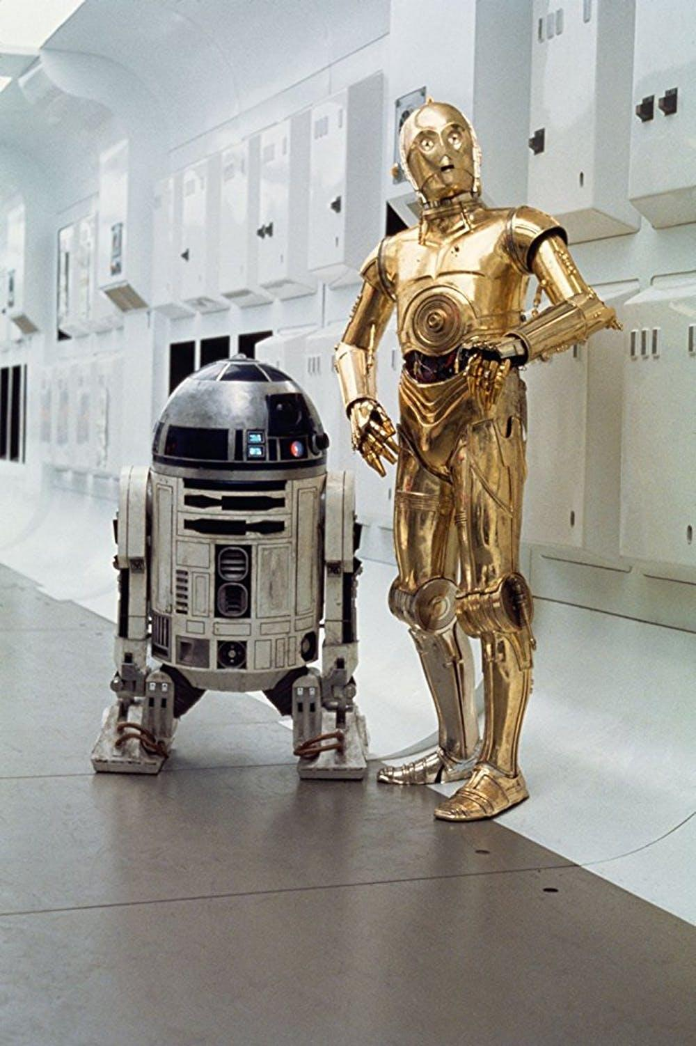 R2-D2 and C3PO in A New Hope
