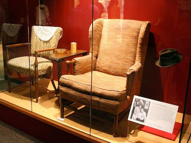 Edith and Archie's chairs, on display at the American History Museum, 2008.