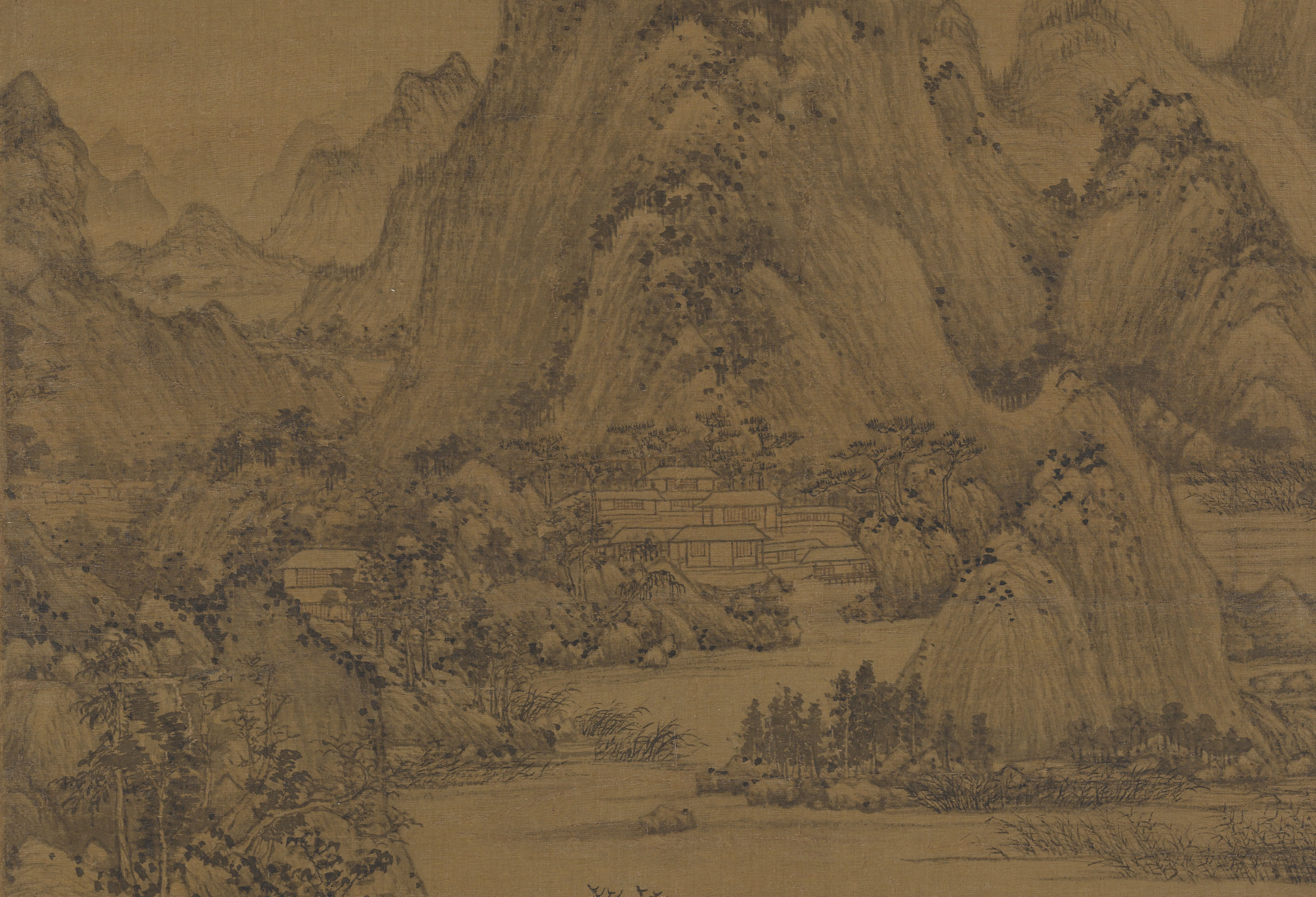 Dwelling, Detail, Wang Meng