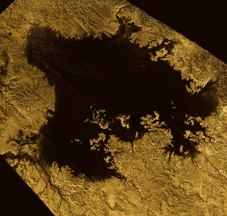False-color image of Ligeia Mare
