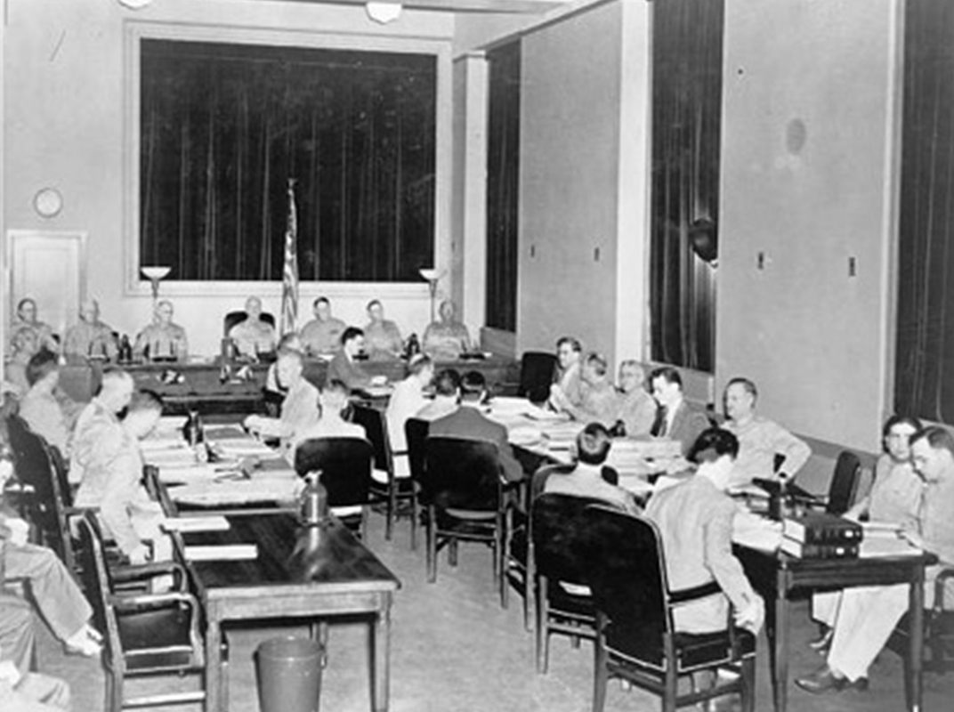 Photo from the military trial