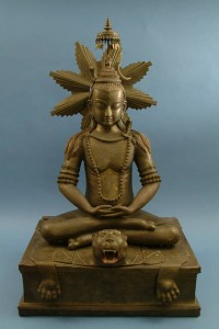 A bronze Buddha sculpture presented by Nepal to President Truman