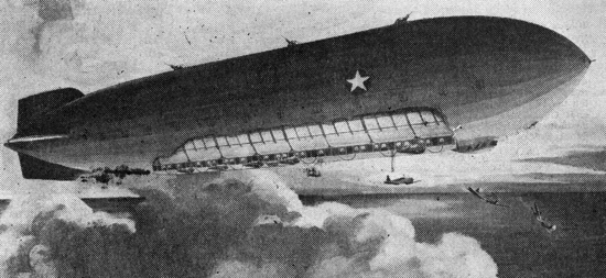 Goodyear's dirigible aircraft carrier of the future (1944)
