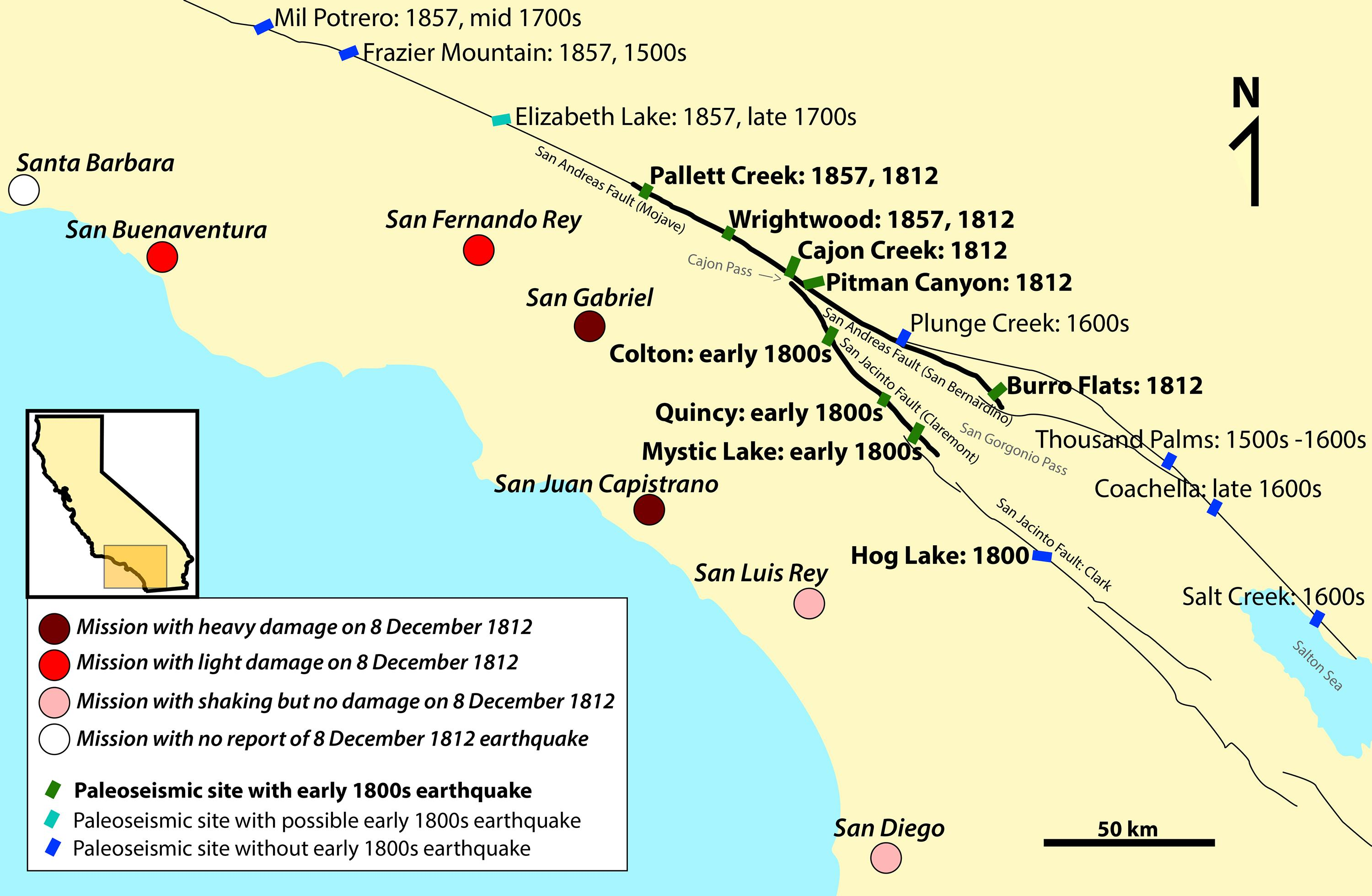 Earthquake Records Map