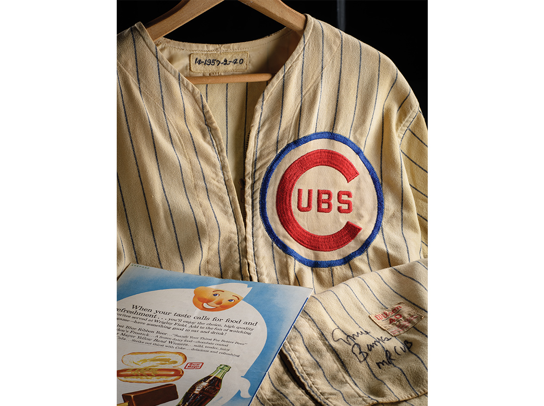 Banks's 1957 Chicago Cubs home jersey