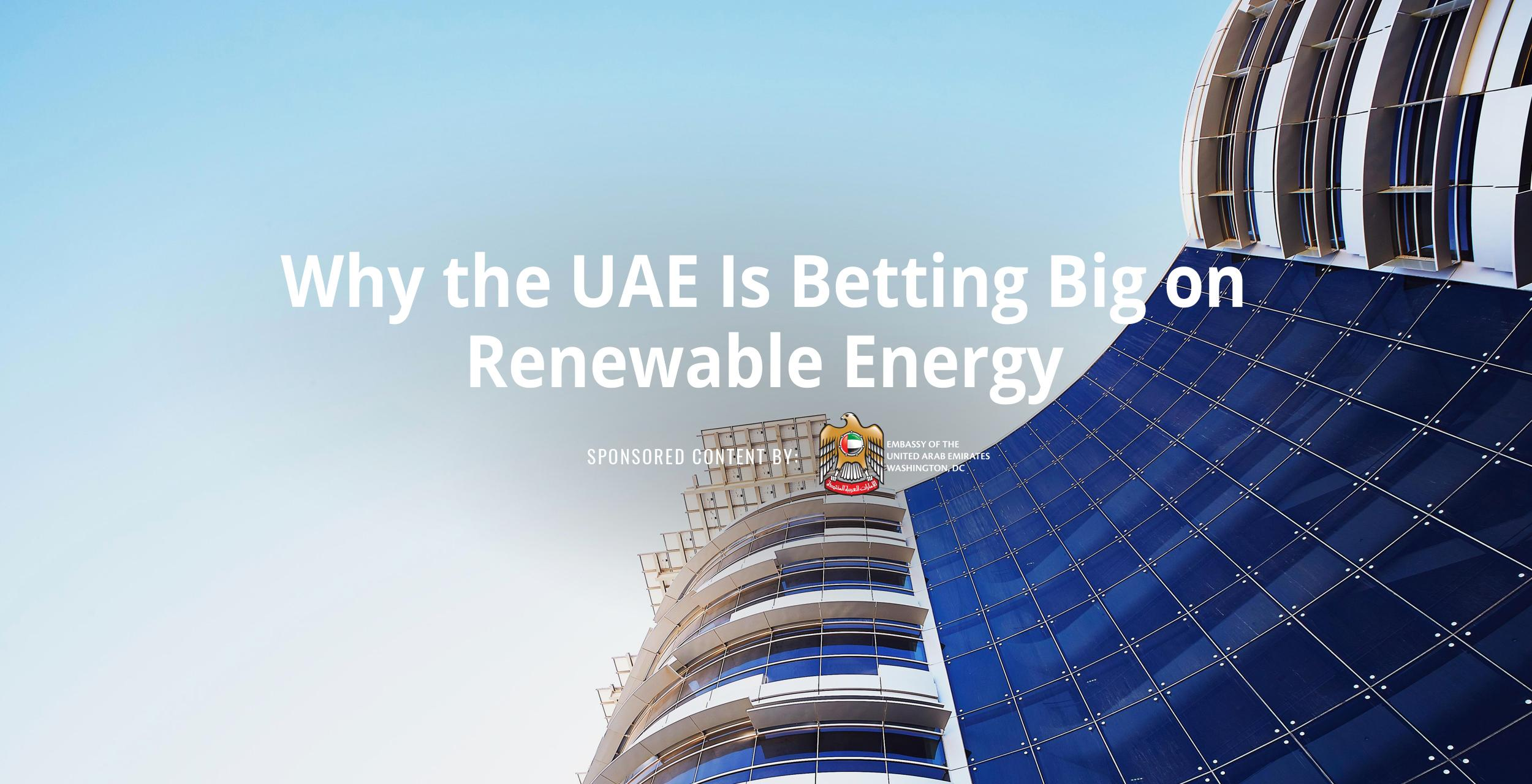 Why the UAE Is Betting Big on Renewable Energy
