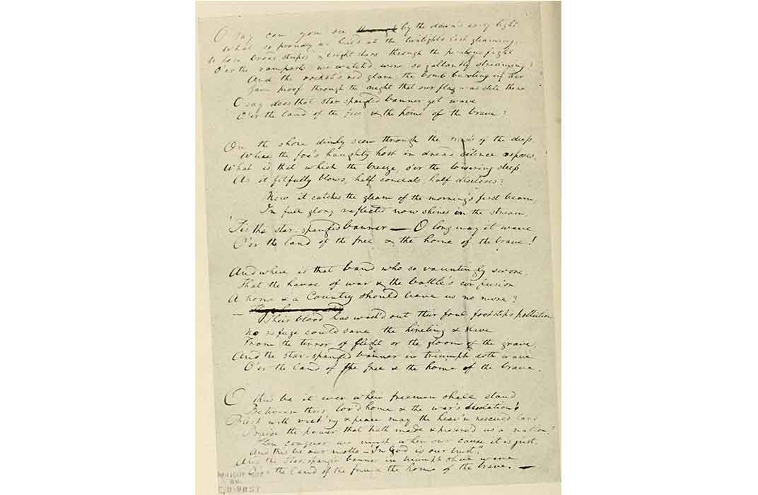 Key's Original Manuscript