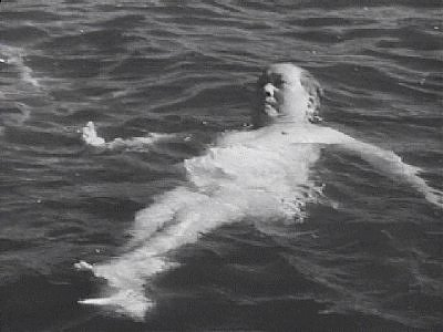 Mao swimming in the Yangtze at the age of 72. His fat made him extremely buoyant.
