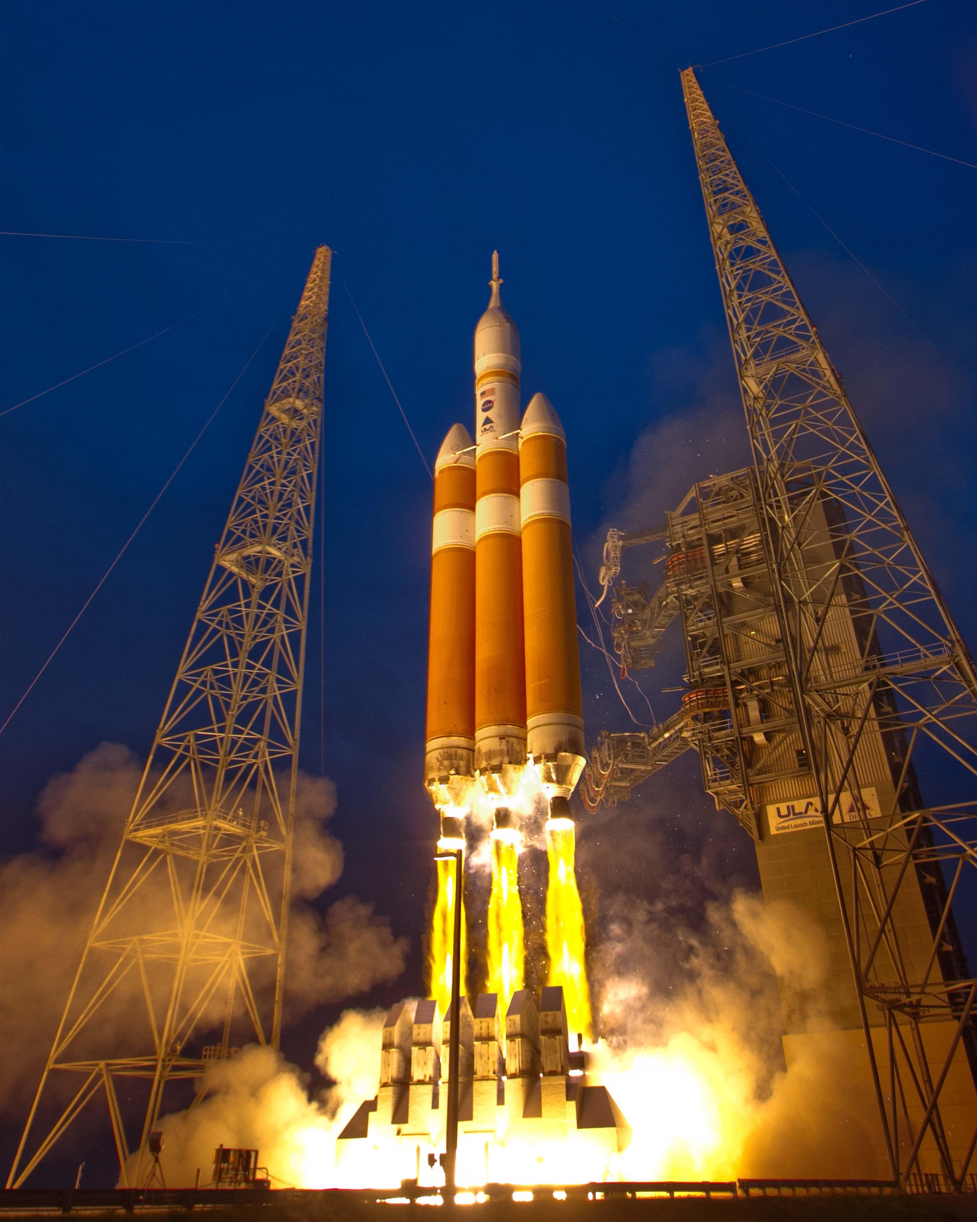 In 2014, a Delta IV Heavy launched NASA's first Orion spacecraft.