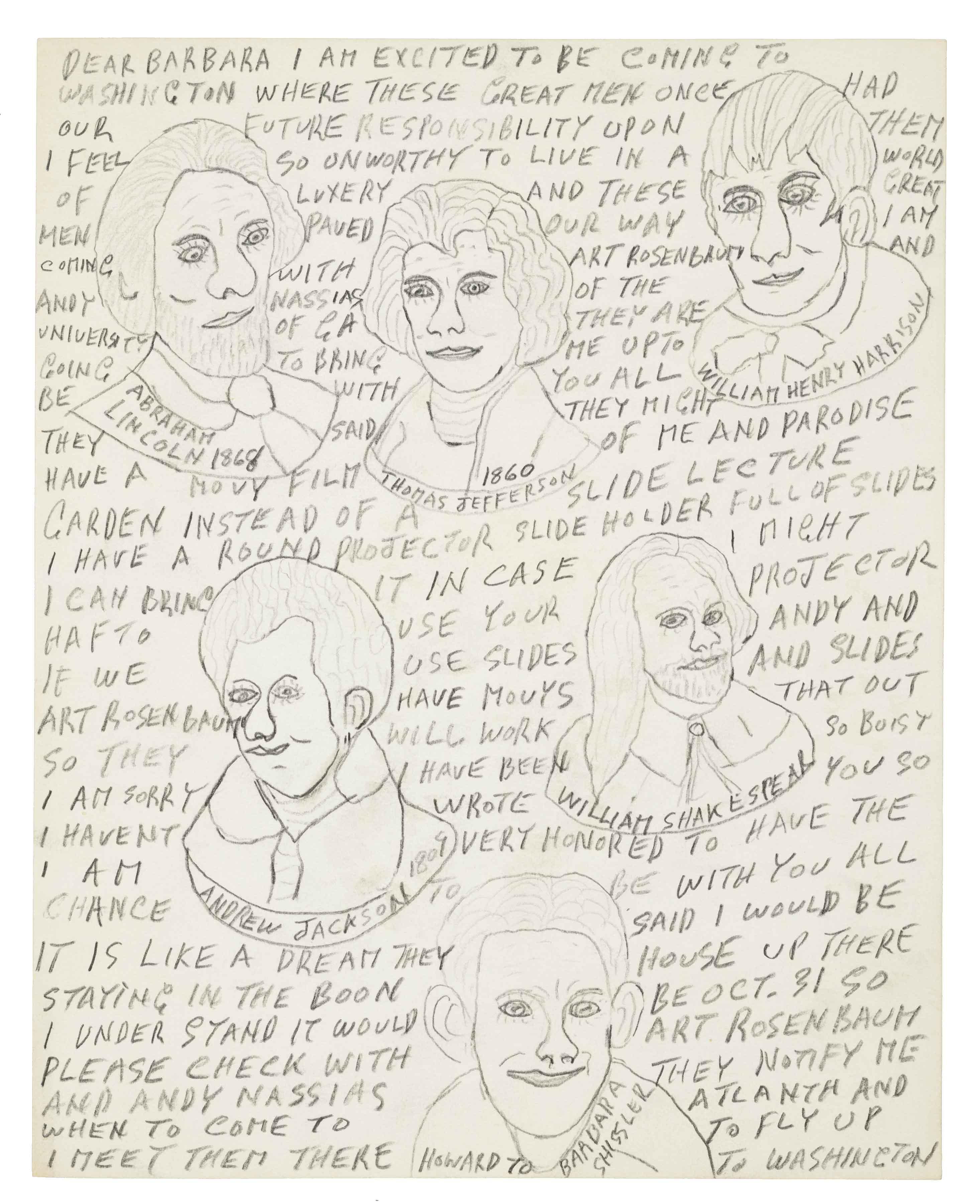 Howard Finster Letter, 1981