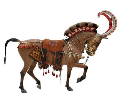 The Saka often portrayed their horses