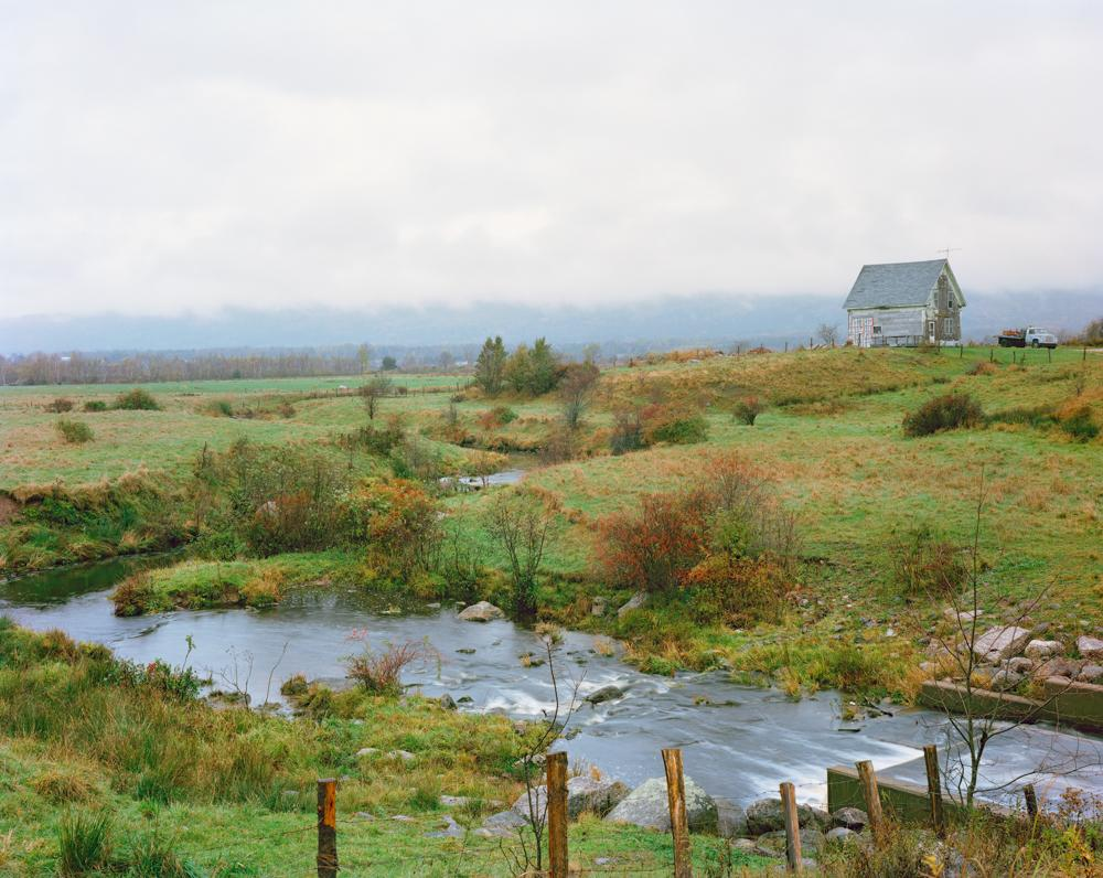 Stream and Farm Shed; Centrelea, Nova Scotia 2014.jpg