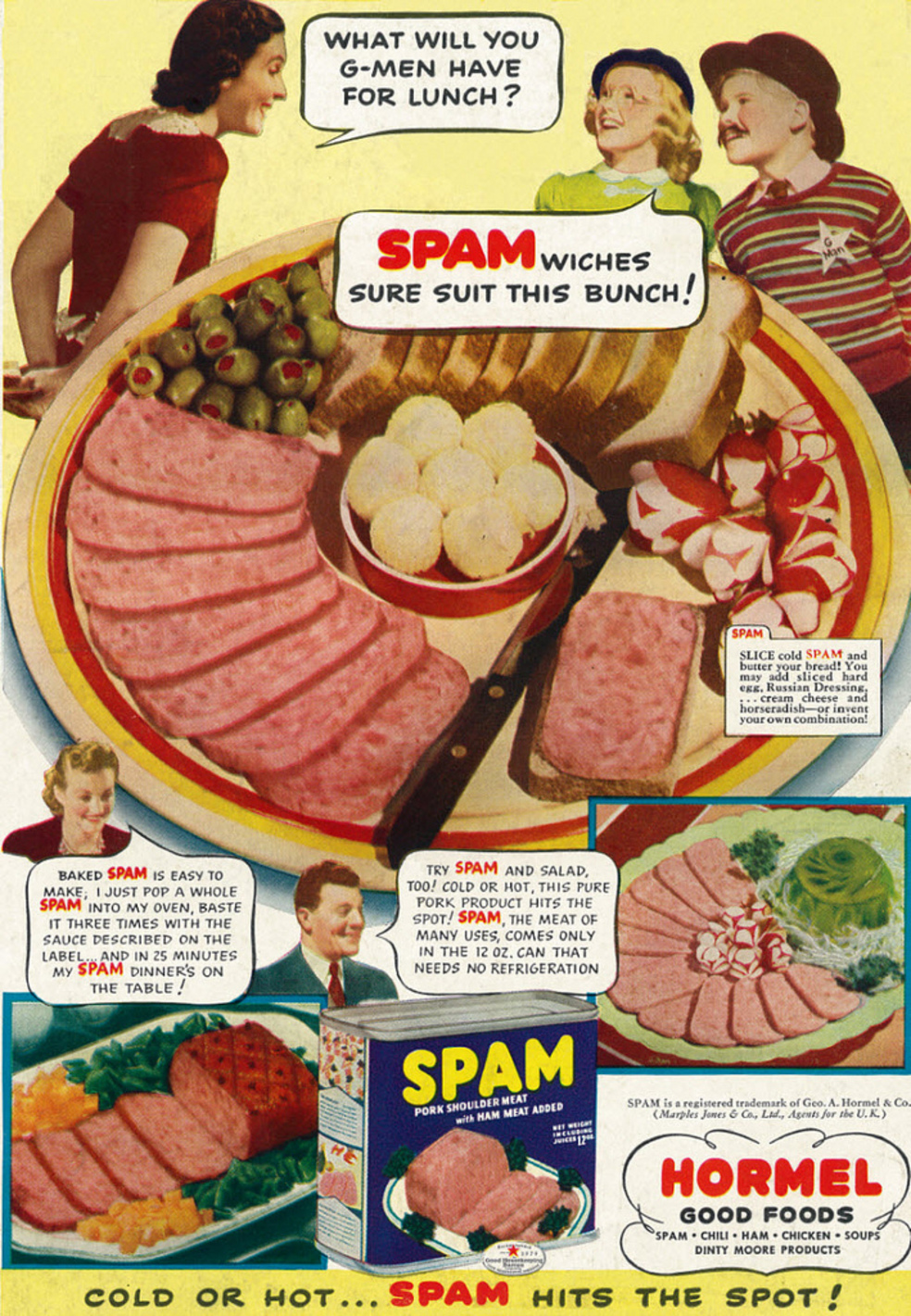 'Cold or hot…Spam hits the spot!'