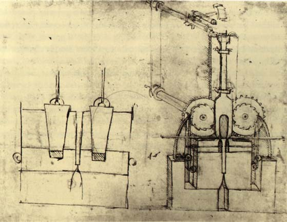 Leonardo da Vinci's sketch for a device for making sequins