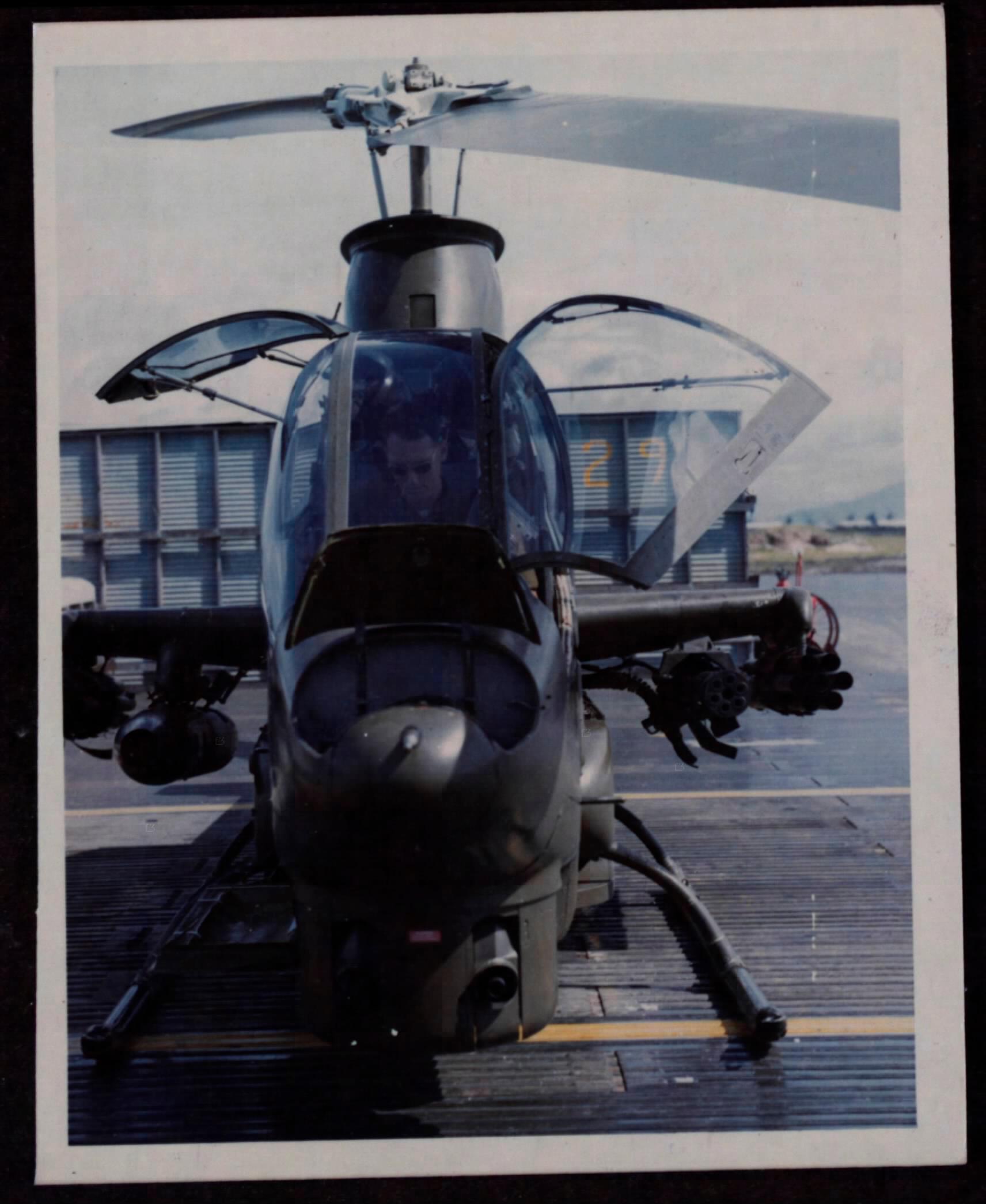 A Cobra at a flight school in Vietnam