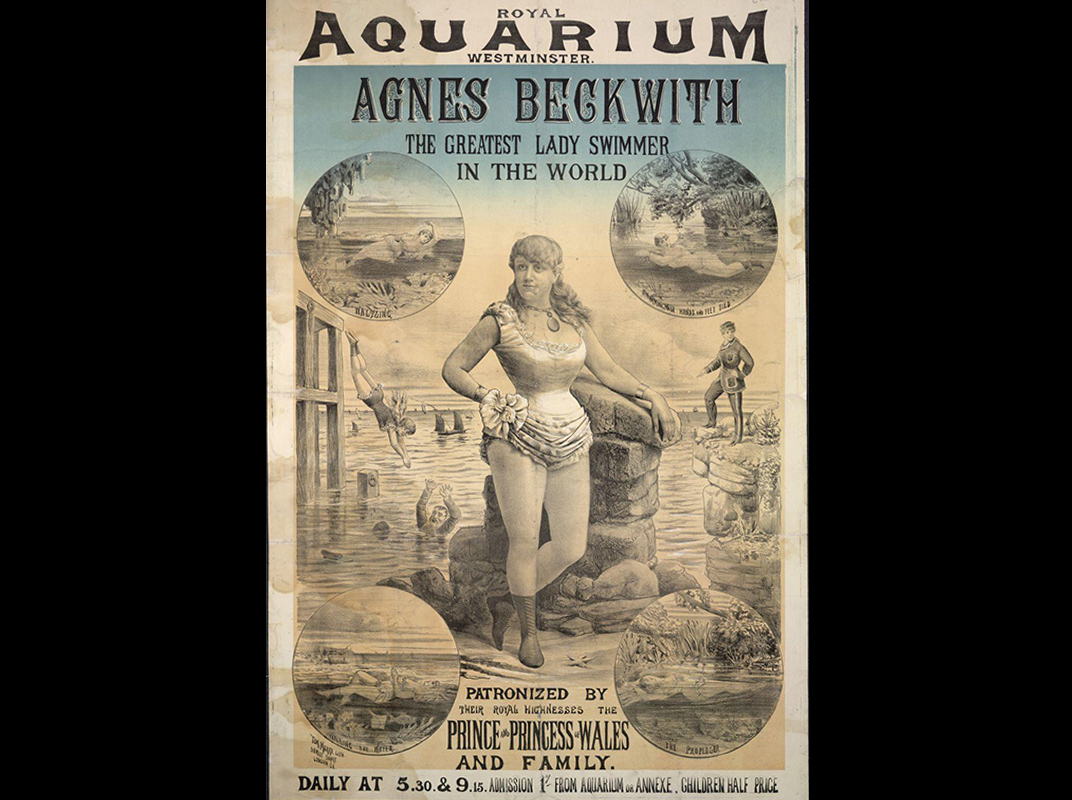 Royal Aquarium, Westminster. Agnes Beckwith, c. 1885
