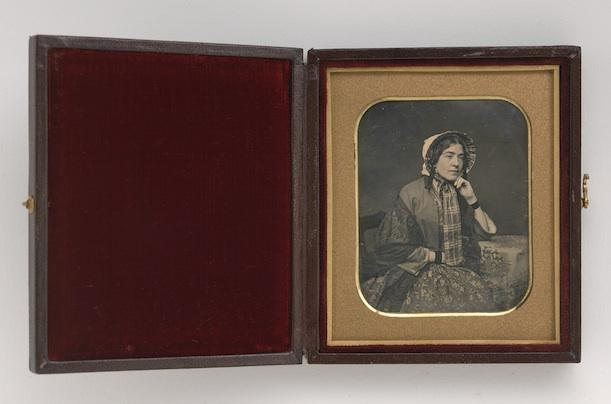 Mary Ann Meade. Sixth-plate daguerreotype, 1850 by the Meade Brothers Studio.