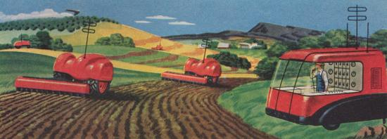 """The farmer of the year 2000 directs his """"robot machines"""""""