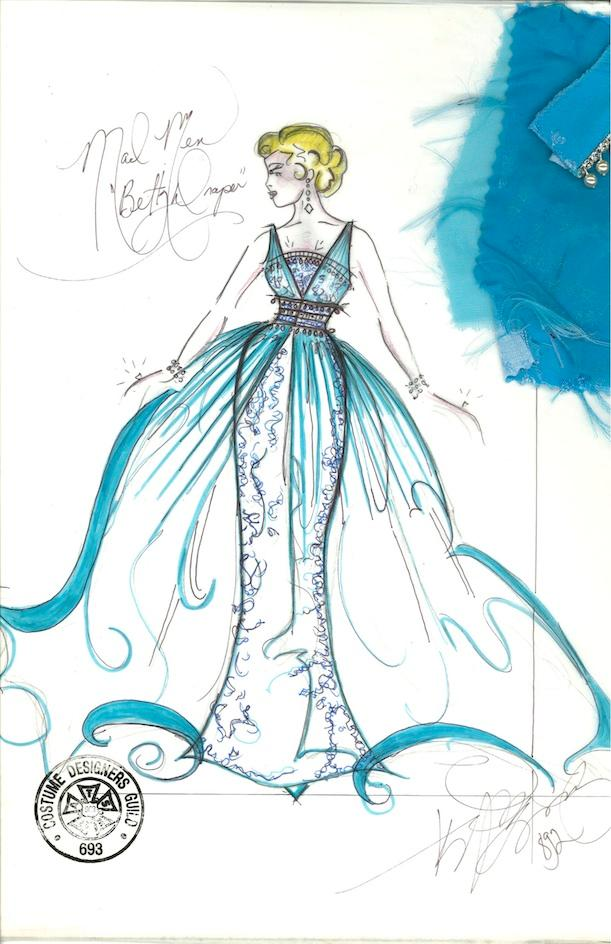 Betty Draper's glamorous blue gown