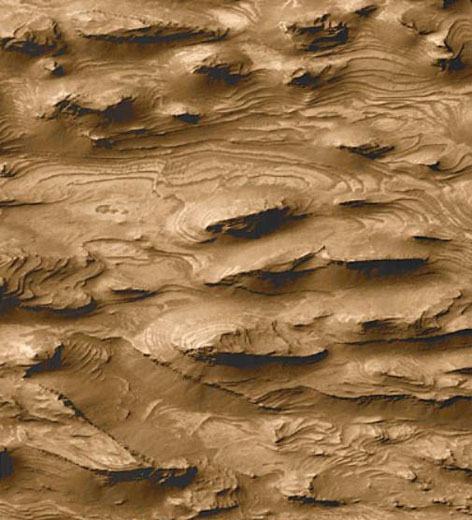 west candor layered outcrops
