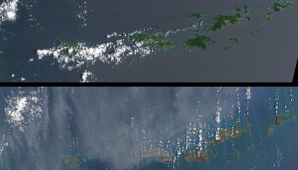 Damage From Hurricane Irma Can Be Seen From Space