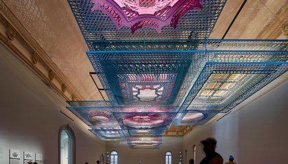 People Are Lying on the Floor To See this Dazzling Ceiling Puzzle
