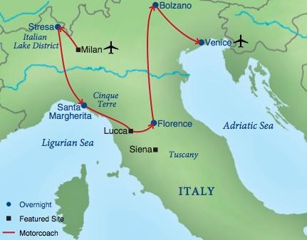 Map - Northern Italy