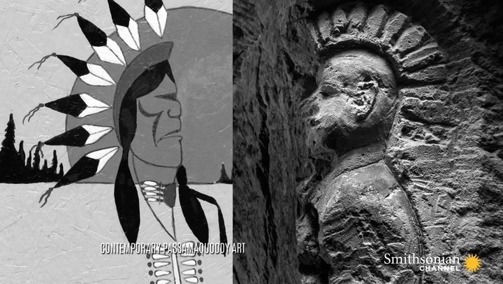 What do native american carvings in french wwi quarries